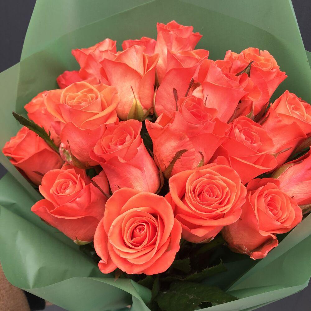 """Купить букет Букет роз """"Оранж"""". Цена - 650.00 грн. Доставка букетов по Киеву (центр) в течении часа."""