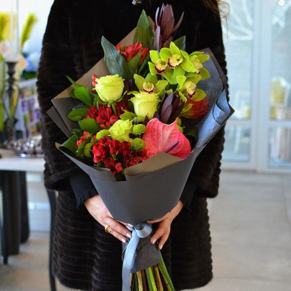 Букет цветов для мужчины купить киев, желтыми ирисами фото
